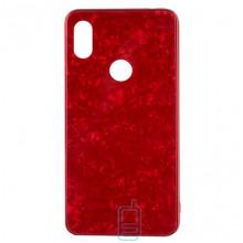 Чехол накладка Glass Case Мрамор Xiaomi Redmi Note 5, Redmi Note 5 Pro красный