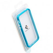 Чехол-бампер Apple iPhone 4 пластик голубой