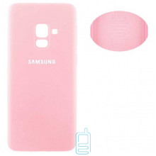 Чехол Silicone Cover Full Samsung A8 Plus 2018 A730 розовый