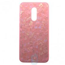 Чехол накладка Glass Case Мрамор Xiaomi Redmi 5 розовый