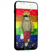Чехол накладка Glue Case Apple iPhone 6, 6S Кот