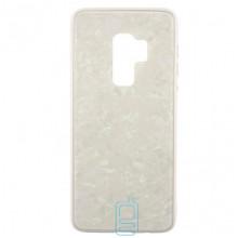 Чехол накладка Glass Case Мрамор Samsung S9 Plus G965 белый
