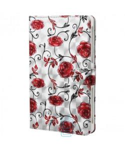 Чехол-книжка XXXL для планшетов 7.0″ №3 розы Серебристый