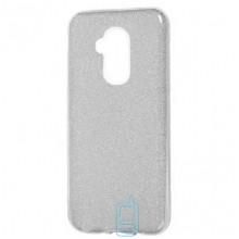 Чехол силиконовый Shine Huawei Mate 20 Lite серебристый