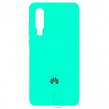 Чехол Silicone Case Full Huawei P30 бирюзовый