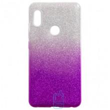 Чехол силиконовый Shine Xiaomi Redmi Note 5, Redmi Note 5 Pro градиент фиолетовый
