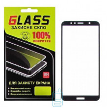 Защитное стекло Full Glue Huawei Y6 2018, Y6 Prime 2018, Honor 7A Pro black Glass