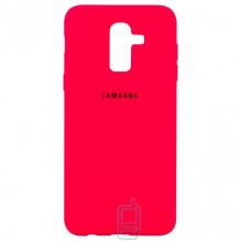 Чехол Silicone Case Full Samsung J8 2018 J810 красный