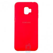 Чехол Silicone Case Full Samsung J2 2018 J250, J2 Pro 2018  красный