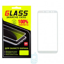 Защитное стекло Full Screen Samsung J6 2018 J600 white Glass