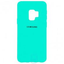 Чехол Silicone Case Full Samsung S9 G960 бирюзовый