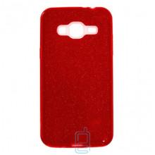Чехол силиконовый Shine Samsung J3 2016 J310 красный