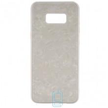 Чехол накладка Glass Case Мрамор Samsung S8 Plus G955 белый