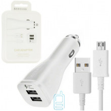 Автомобильное зарядное устройство Samsung S7 Fast charger 2USB 5V-2A 9V-1.67A micro-USB пластик white