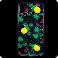 Чехол силиконовый 3D Apple iPhone XR Ананас