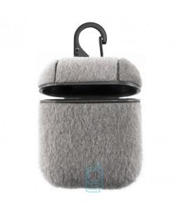 Футляр для наушников Airpod Wool пудра