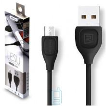 Micro USB кабель Remax lesu RC-050m 1m черный