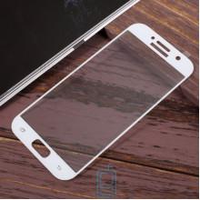 Защитное стекло Full Screen Samsung A5 2017 A520 white тех.пакет