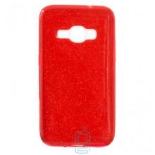 Чехол силиконовый Shine Samsung J1 2016 J120 красный