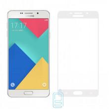 Защитное стекло Full Screen Samsung A7 2016 A710 white тех.пакет