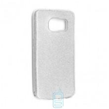 Чехол силиконовый Shine Samsung S7 Edge G935 серебристый