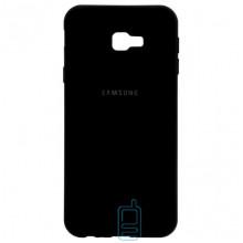 Чехол Silicone Case Full Samsung J4 Plus 2018 J415 черный