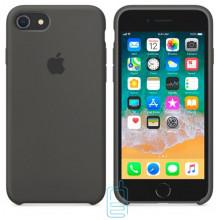 Чехол Silicone Case Apple iPhone 5, 5S темно-серый 35