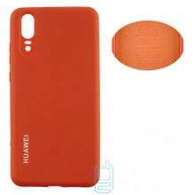 Чехол Silicone Cover Full Huawei P20 оранжевый