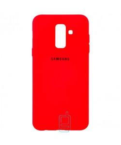 Чехол Silicone Case Full Samsung A6 Plus 2018 A605 красный