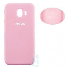 Чехол Silicone Cover Full Samsung J4 2018 J400 розовый