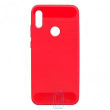 Чехол силиконовый Polished Carbon Huawei Y6 2019 красный
