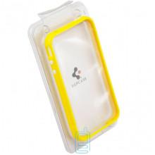 Чехол-бампер пластиковый Apple iPhone 4 желтый