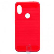 Чехол силиконовый Polished Carbon Xiaomi Redmi Note 6 Pro красный