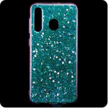 Чехол силиконовый Конфетти Samsung M30 2019 M305 голубой