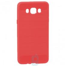Чехол силиконовый Polished Carbon Samsung J7 2016 J710 красный