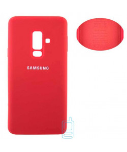 Чехол Silicone Cover Full Samsung A6 Plus 2018 A605 красный