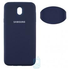 Чехол Silicone Cover Full Samsung J7 2017 J730 синий
