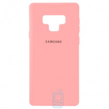 Чехол Silicone Case Full Samsung Note 9 N960 розовый