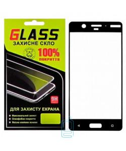 Защитное стекло Full Screen Nokia 8 black Glass