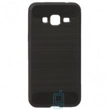 Чехол силиконовый Polished Carbon Samsung J3 2016 J310 черный