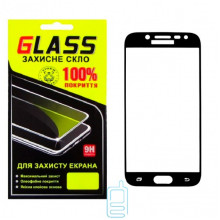 Защитное стекло Full Screen Samsung J5 2017 J530 black Glass
