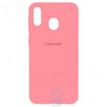 Чехол Silicone Case Full Samsung M20 2019 M205 розовый