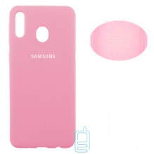 Чехол Silicone Cover Full Samsung M20 2019 M205 розовый