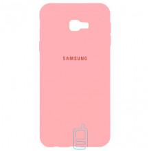 Чехол Silicone Case Full Samsung J4 Plus 2018 J415 розовый