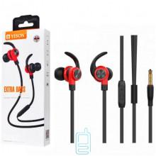 Наушники с микрофоном Yison CX300 черно-красные