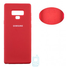 Чехол Silicone Cover Full Samsung Note 9 N960 красный