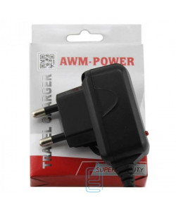 Сетевое зарядное устройство AWM Power 0.8A Samsung C100, E700 black