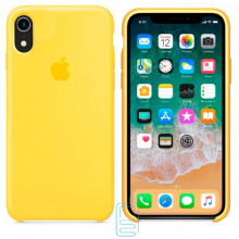 Чехол Silicone Case Apple iPhone XR желтый 28