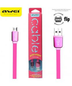USB кабель AWEI CL-900 micro USB 1m розовый