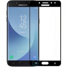 Защитное стекло Full Screen Samsung J7 2017 J730 black тех.пакет